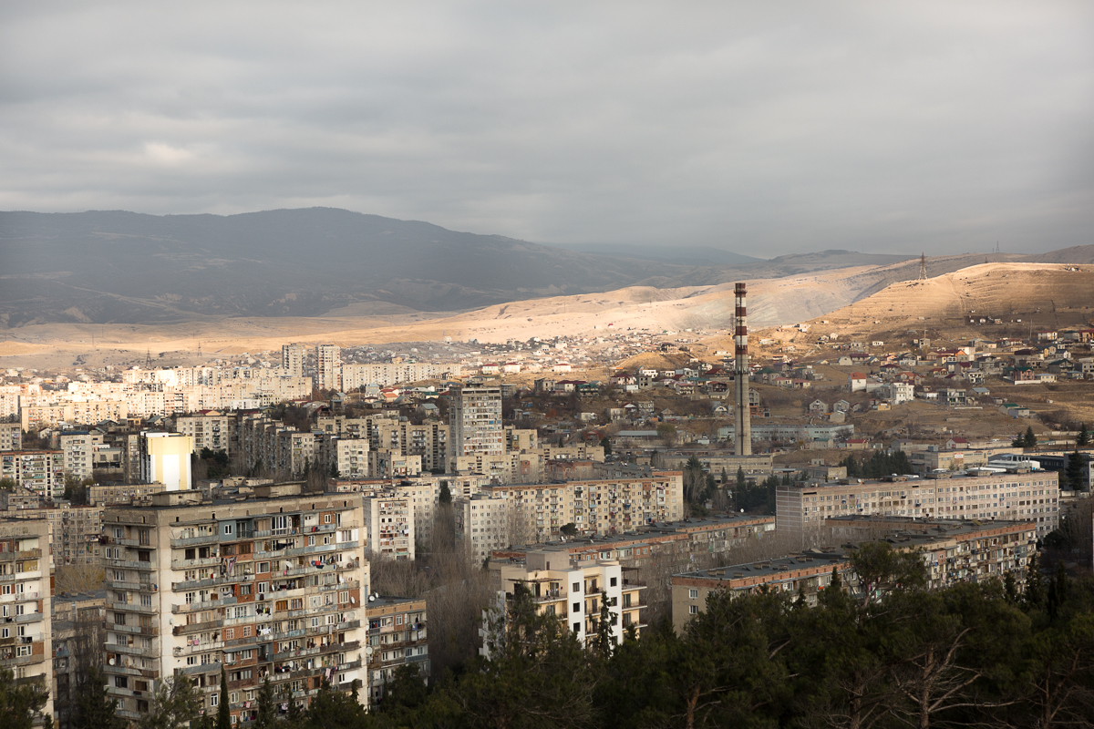 View of a neighborhood in the north west of Tbilisi.