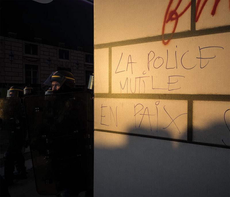 France, 2019. Yellow Vests protest, Paris.