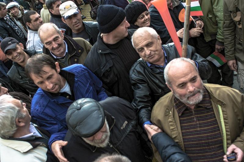 Bulgaria 2013. Demonstration in favor of the government of Plamen Oresharski.